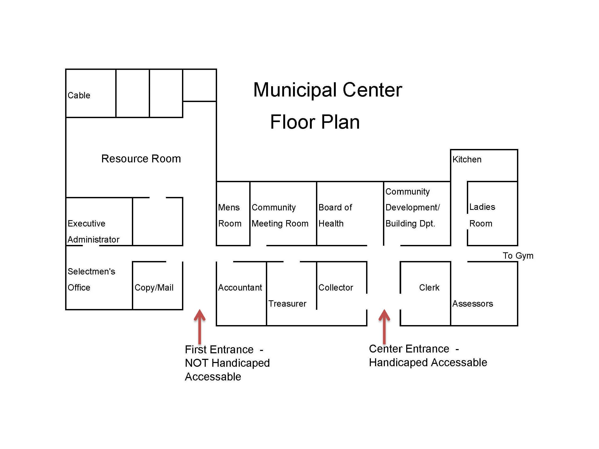 Municipal Center Floor Plan