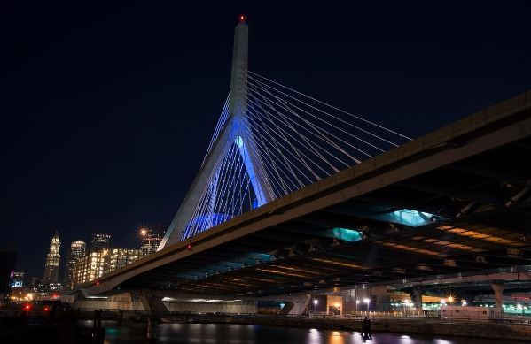 Boston_Zakim_Bridge Teal Takeover